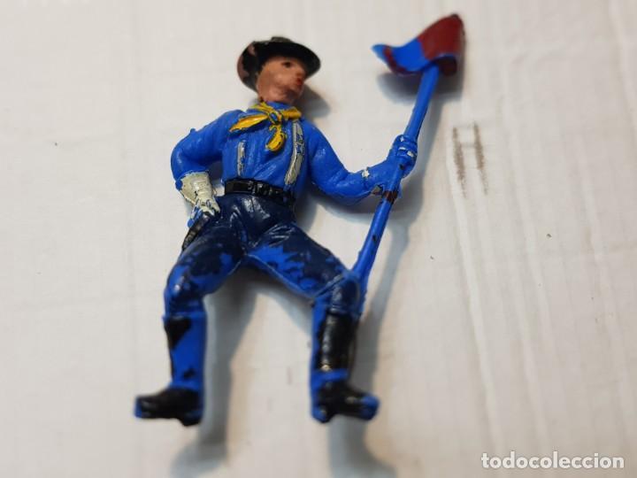 Figuras de Goma y PVC: Figura Descabezado Jecsan Abanderado a Caballo escasa - Foto 3 - 213883440