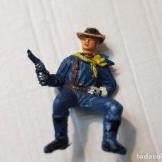 Figuras de Goma y PVC: FIGURA DESCABEZADO JECSAN JINETE CON PISTOLA ESCASA. Lote 213883728