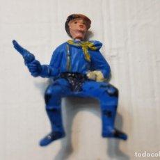 Figuras de Goma y PVC: FIGURA DESCABEZADO JECSAN JINETE CON PISTOLA ESCASA. Lote 213883756