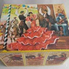 Figuras de Goma y PVC: TABLAO FLAMENCO REALIZADO EN MADERA DE COMANSI. Lote 214186661