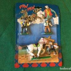 Figuras de Goma y PVC: FIGURAS VAQUEROS PAW PAW COWBOYS. Lote 214204552