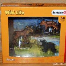 Figuras de Goma y PVC: WILD LIFE - SCHLEICH - FOREST - CRÍAS DE ANIMALES DEL BOSQUE - 41457 - NUEVO Y EN SU CAJA ORIGINAL. Lote 214282275
