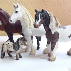 Figuras de Borracha e PVC: LOTE DE CABALLOS SCHLEICH. Lote 214362667