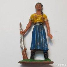Figuras de Goma y PVC: FIGURA MUJER BONANZA DE COMANSI SERIE CHAPARRAL ESCASA. Lote 214369551