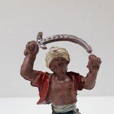 Figuras de Goma y PVC: GUERRERO HINDU . REALIZADO POR LAFREDO . SERIE HINDUES . AÑOS 50 EN GOMA. Lote 214524931