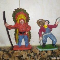 Figuras de Goma y PVC: FIGURAS COMANSI PVC OESTE VAQUEROS INDIOS. Lote 214627685