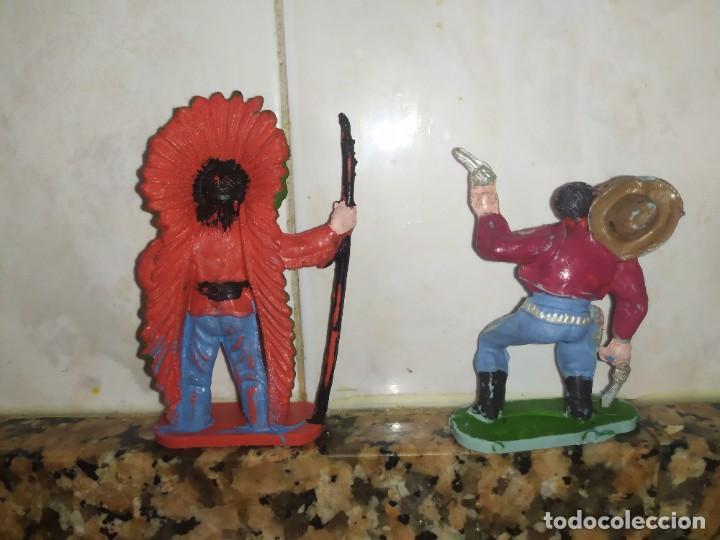 Figuras de Goma y PVC: Figuras comansi pvc oeste vaqueros indios - Foto 2 - 214627685