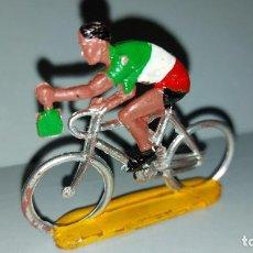 Figuras de Goma y PVC: CICLISTA - SOTORRES - EN PLASTICO RIGIDO - AÑOS 60- VUELTA CICLISTA. Lote 214726682