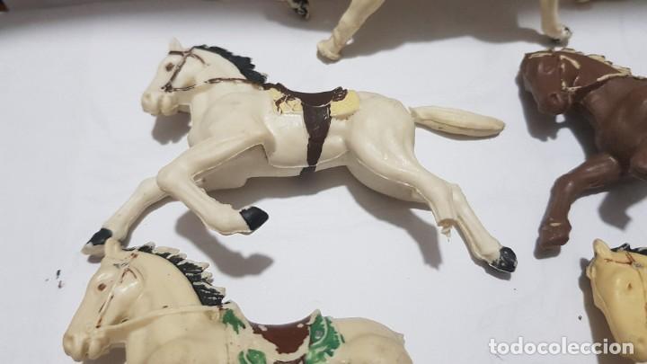 Figuras de Goma y PVC: Lote caballos en plastico con falta Reamsa - Foto 8 - 214738508