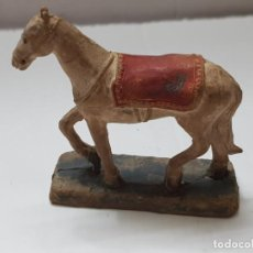 Figuras de Goma y PVC: FIGURA GOMA CABALLO GUARDIA MORA GENERALISIMO COLOM BASTE (COBA) ORIGINAL. Lote 214753052