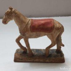 Figuras de Goma y PVC: FIGURA GOMA CABALLO GUARDIA MORA GENERALISIMO COLOM BASTE (COBA) ORIGINAL. Lote 214753186