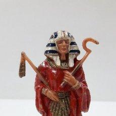 Figuras de Borracha e PVC: FARAON EGIPCIO . REALIZADO POR JECSAN . ORIGINAL AÑOS 60. Lote 214868241