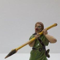 Figuras de Goma y PVC: VIKINGO . REALIZADO POR JECSAN . ORIGINAL AÑOS 50 EN GOMA. Lote 214918621