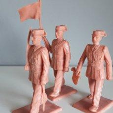 Figuras de Goma y PVC: GUARDIA CIVIL , SOLDIS DE GOMARSA/REAMSA, 3 FIGURAS SIN USAR DE UN VIEJO STOCK. REEDICIÓN MONOCOLOR.. Lote 215040888