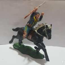 Figuras de Borracha e PVC: SOLDADO SEPTIMO CABALLERIA A CABALLO HERIDO CON FLECHA LITTLE BIG HORN ORIGINAL REAMSA. Lote 215044990