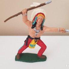 Figuras de Goma y PVC: GUERRERO INDIO SIOUX LITTLE BIG HORN ORIGINAL REAMSA. Lote 215047605