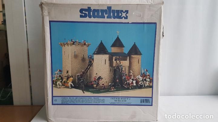 Figuras de Goma y PVC: Castillo medieval completo con soldados château-fort n° 3 ref. Ba 42103 Starlux - Foto 31 - 215087692