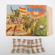 Figuras de Borracha e PVC: SOBRE MONTAPLEX ESPAÑA INFANTERIA 105 - SOBRE ESTADO IMPECABLE - COLADA ESPAÑOLES COLOR FOTO. Lote 215092343