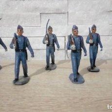 Figuras de Goma y PVC: LOTE DE 6 SOLDADOS DEL EJERCITO DEL AIRE ESPAÑOL. PLASTICO. PECH. 3 SOLDADOS TIENE FALTA. Lote 215126517