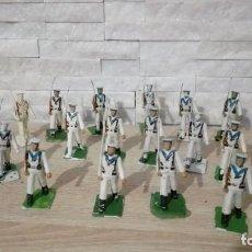 Figuras de Goma y PVC: LOTE 16 FIGURAS INFANTERIA DE LA MARINA. PLASTICO . REAMSA.. Lote 215128413
