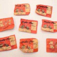 Figuras de Goma y PVC: LOTE 8 SOBRES MONTAPLEX - MOTO SCOOTER - VESPA, SOBRE ROJO ANTIGUO AÑO 1967 - SOBRES SIN ABRIR. Lote 215243031