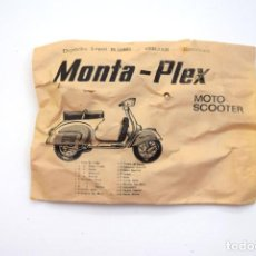Figuras de Goma y PVC: MONTAPLEX - MOTO SCOOTER - VESPA, SOBRE ANTIGUO AÑO 1967 - VER MIS OTROS MONTAPLEX. Lote 232257210