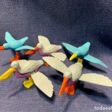 Figuras Kinder: 5 PELICANOS PLASTICO MONTABLES PIEZAS FERRERO KINDER BUENO SORPRESA 4X6X8CMS. Lote 215252433