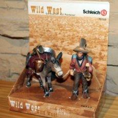 Figuras de Goma y PVC: SCHLEICH - WILD WEST - BUSCADOR DE ORO CON BURRO - NUEVO A ESTRENAR - 70310 - OESTE. Lote 215285842