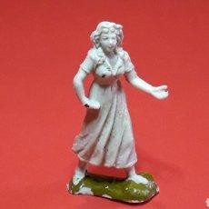 Figuras de Goma y PVC: MUJER DEL OESTE, PLÁSTICO, JECSAN MADE IN SPAIN, ORIGINAL AÑOS 60.. Lote 215314681