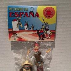 Figuras de Goma y PVC: PACK DE FIGURAS DON QUIJOTE Y SANCHO CON ESPADA AÑO 1979. Lote 243702770