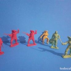 Figuras de Goma y PVC: LOTE DE 6 MOSQUETEROS. PLASTICO.. Lote 215399357