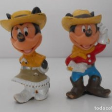 Figuras de Borracha e PVC: 2FIGURAS GOMA PVC MICKEY MOUSSE MINNI DISNEY ALFREEDOM. Lote 215442047