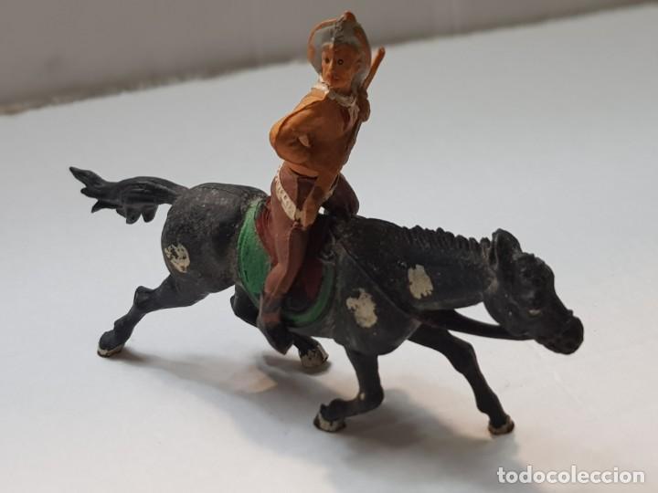 FIGURA VAQUERO CON RIFLE EN GOMA DE GAMA ARTICULADA (Juguetes - Figuras de Goma y Pvc - Gama)