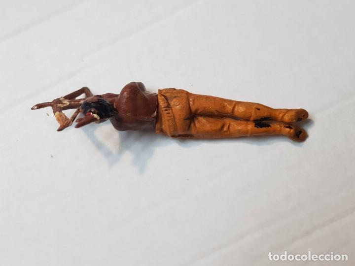 Figuras de Goma y PVC: Figura Indio con arco tumbado en Goma de Gama articulada - Foto 3 - 215483168