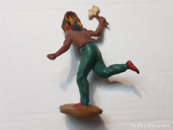 Figuras de Goma y PVC: Figura Indio con hacha en Goma de Gama articulada - Foto 2 - 215483288
