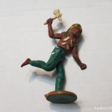Figuras de Goma y PVC: FIGURA INDIO CON HACHA EN GOMA DE GAMA ARTICULADA. Lote 215483388
