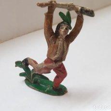 Figuras de Goma y PVC: FIGURA INDIO CON RIFLE COMANSI PRIMERA SERIE. Lote 215566182