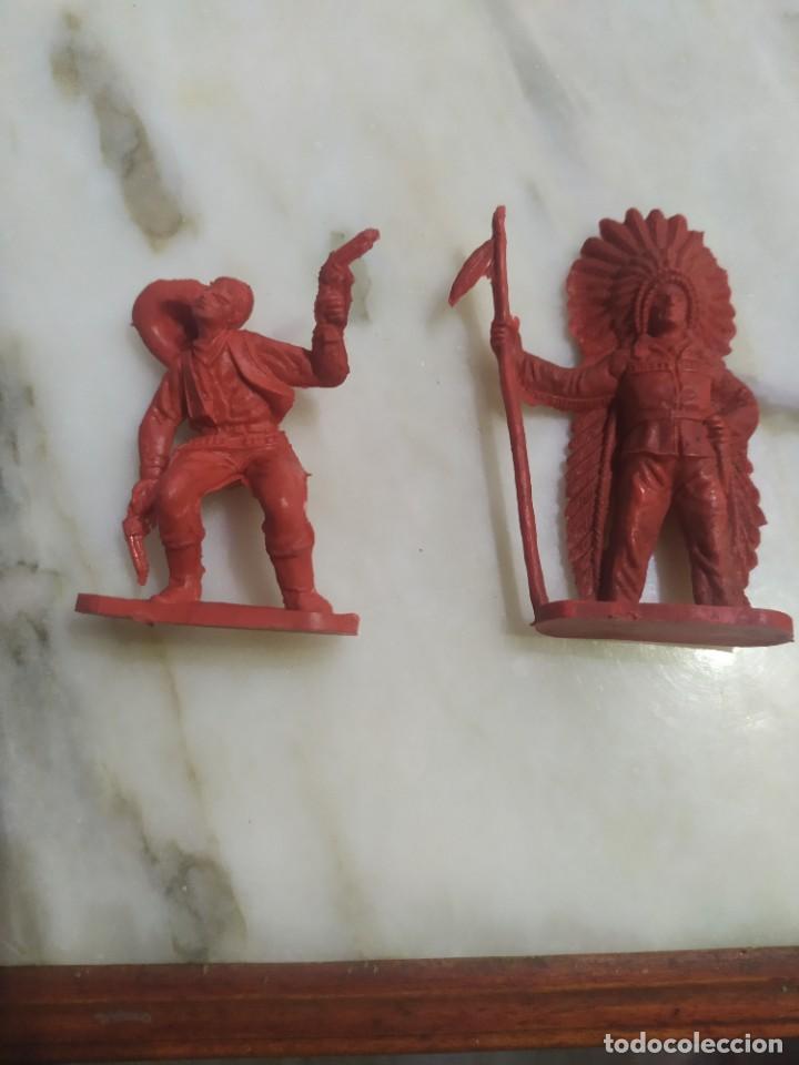 Figuras de Goma y PVC: Figuras comansi primera epoca pvc oeste indios vaqueros - Foto 2 - 255920780