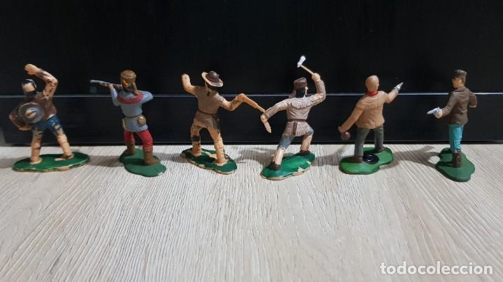 Figuras de Goma y PVC: Lote completo original tramperos plastico Reamsa - Foto 2 - 215677973