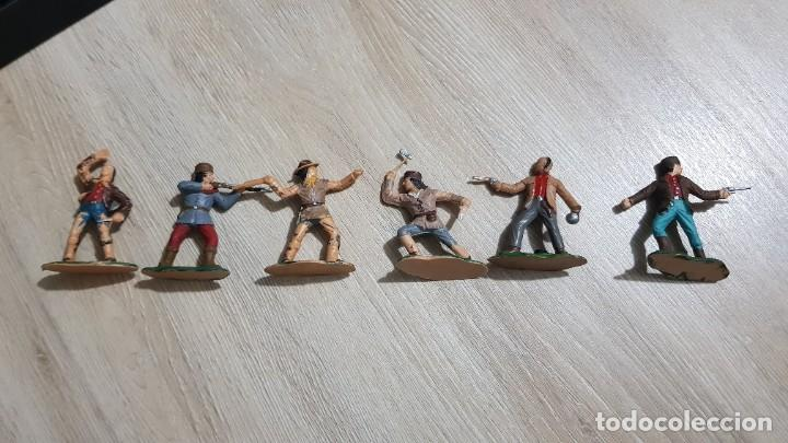 Figuras de Goma y PVC: Lote completo original tramperos plastico Reamsa - Foto 3 - 215677973