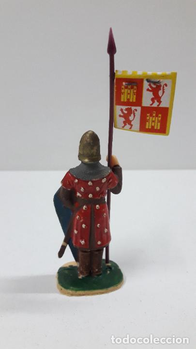 Figuras de Goma y PVC: GUERRERO CRISTIANO CON ESTANDARTE . FIGURA REAMSA . SERIE EL CID CAMPEADOR . AÑOS 60 - Foto 2 - 215717507