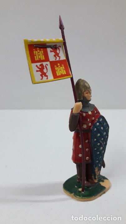 Figuras de Goma y PVC: GUERRERO CRISTIANO CON ESTANDARTE . FIGURA REAMSA . SERIE EL CID CAMPEADOR . AÑOS 60 - Foto 4 - 215717507