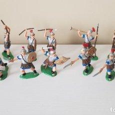 Figuras de Goma y PVC: LOTE SOLDADOS ROMANOS ORIGINAL FABRICADOS EN GOMA SERIE LEGIONES ROMANAS REAMSA. Lote 215973336