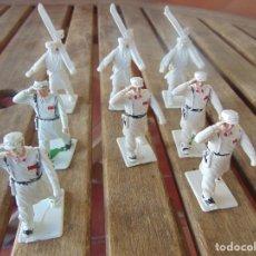 Figuras de Goma y PVC: FIGURAS DEL DESFILE DE SOLDIS REAMSA GOMARSA, 8 TROPA DE MONTAÑA SIN PINTAR Y PINTADOS. Lote 216356651