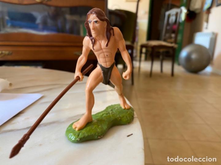 Figuras de Goma y PVC: Tarzan muñeco juguete de goma bullyland pintado a mano tarzan burroughs and disney - Foto 6 - 216573401