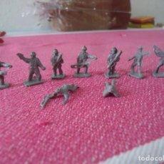 Figuras de Goma y PVC: 9 SOLDADOS CREO AMERICANOS WW2 DE LOS SOBRES TIPO LA ILUSION,MONTAPLEX,ETC..AÑOS 70 COLOR GRIS. Lote 216689472
