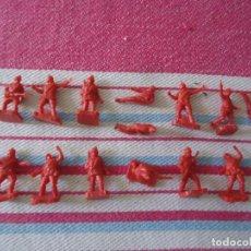 Figuras de Goma y PVC: 14 SOLDADOS RUSOS WW2 DE LOS SOBRES TIPO LA ILUSION,MONTAPLEZ,ETC..AÑOS 70 COLOR ROJO. Lote 216689768