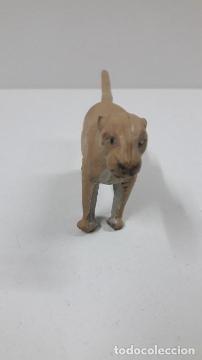 Figuras de Goma y PVC: LEONA . REALIZADA POR ARCLA . ORIGINAL AÑOS 50 EN GOMA - Foto 3 - 216949492