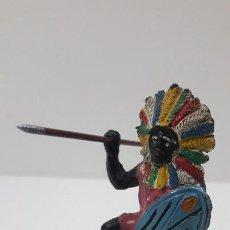 Figuras de Goma y PVC: GUERRERO KAKUANA . REALIZADO POR PECH . ORIGINAL AÑOS 50 EN GOMA. Lote 216955110
