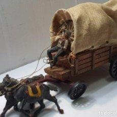 Figuras de Goma y PVC: CARRETA OESTE TEIXIDO TOTALMENTE ORIGINAL Y MUY DIFÍCIL. Lote 217040422